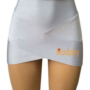 Women Hot Short Elastic Rayon Bandage Skirt Mini Sexy
