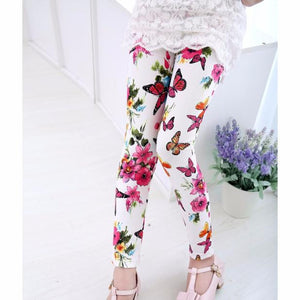Kids Baby Girls Printing Flower Leggings