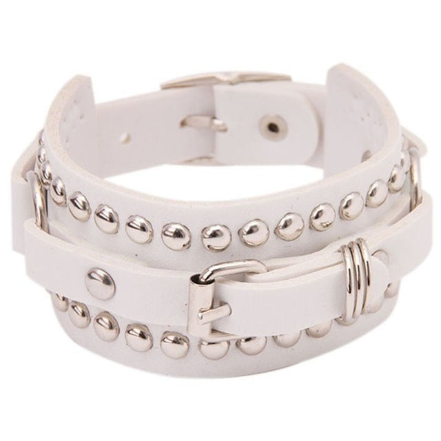 Bracelet Belt Chain Charm Leather  Men