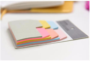Sticky Note Pad of Page Tabs - Six Different Sizes in One Pack