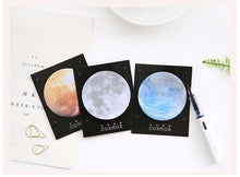 """Mindsteps to the Universe"" Round Sticky Notes Memo Pads - Planetary Paper Notes - 6 Colors Available"