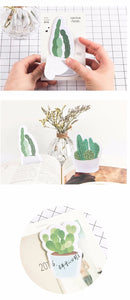 """Yes, I Love Succulents, Why?"" - Sticky Memo Notes - Set of 4 Cactus Paper Adhesive Notes"