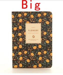 """Flowery"" Hard Cover Personal Agenda Notebook"