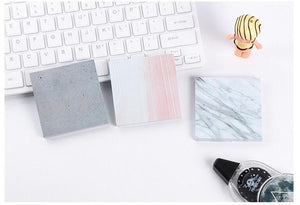 Marble + Stone Self-Adhesive Sticky Note Memo Pads - 3 Colors Available