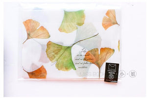 """Fallen Leaves"" Watercolor Transluscent Envelopes - Set of 4"
