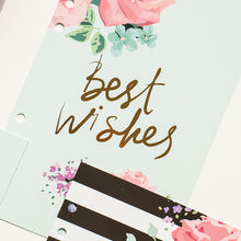 """Best Wishes"" Set of 5 Page Dividers with Tabs - Size Large + Small"