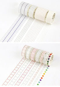 Tiny Gray Boxes - OUT OF STOCK Extra Thin Washi Tape - Bullet Journal Accessory