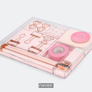 Ultimate Rose Gold Desk Organizer Stationary Set Pretty Space