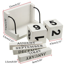Cute White Wood Desk Calendar
