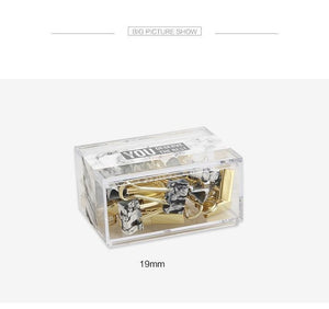 """Never Marble"" Gold Binder Clips - Two Size Options"