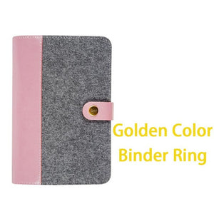 "Felted Cloth Soft Cover - ""Varsity Pinks"" Planner Cover - Large + Small"