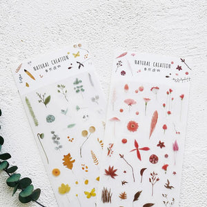 """Natural Creation"" Floral Photo-Printed Stickers - 3 Options"