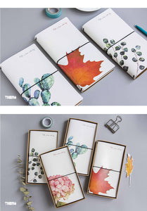 Cactus + Floral Print Personal Notebooks - Four Choices - Great Gifts!