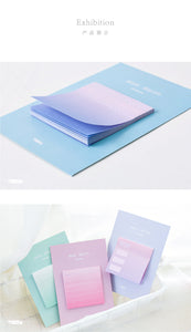 Set of Eight Ombre Sticky Note Pads - Organized Memo Notes