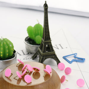 Colorful Metal Push Pins - Bulletin Board Tacks - 10 Colors