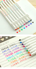 Set of Eight Writing Pens - Japanese Midiliner Type Gel Set