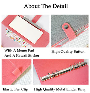 """Pink Diamond"" Cloth Planner Cover - Snap Closure - Large + Small"