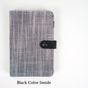 Dark Grey Cloth Planner Cover - Snap Closure - Large + Small