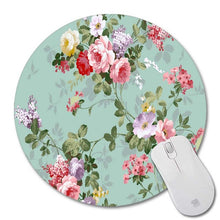 """The Love of Flowers"" Round Mouse Pad - Two Sizes"