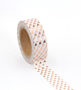 Triangles - Rose Gold Foil Washi Tape - 1.5 cm