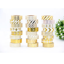 Stenciled Triangles - Gold Foil Washi Tape 1.5 cm