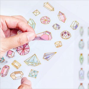 """Bejeweled"" Transparent Gem Stickers"