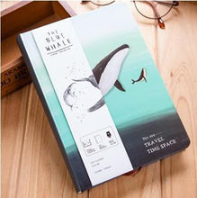 """The Blue Whale"" Illustrated Hardcover Travel Journals - Choice of Four Colors"