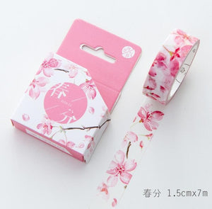 Pinked Out Floral Washi Tape