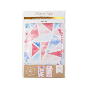 Glow & Shimmer Planner Page Divider Set - Size Small A6