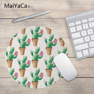 Cactus Watercolor Mouse Pads - Five Color Options - Two Sizes