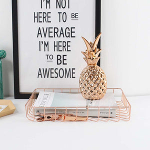 """Simple Style"" Paperwork Tray - Rose Gold + Gold Available"