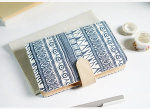 """Free Dreams"" Linen Fabric Planner Cover - Size Large + Small"