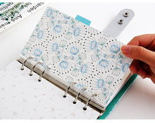 Size SMALL Dandelion Index Planner Page Dividers - Set of 6