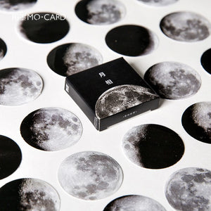 Phases of the Moon - Paper Stickers - Set of 45