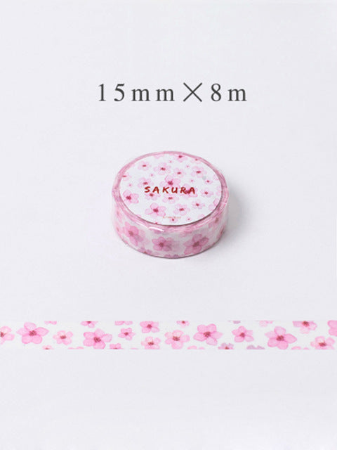 Pinky Pink Floral Washi Tape - 15mm