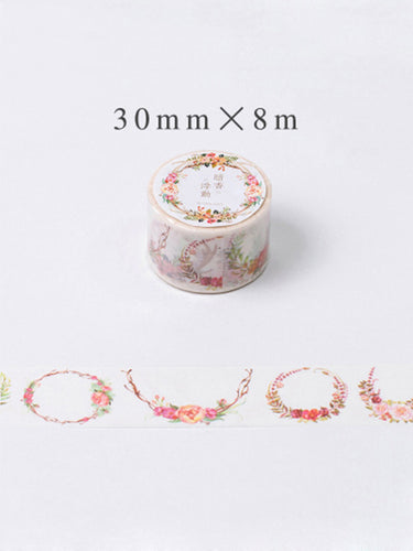 Reds Floral Garland Washi Tape - Extra Wide