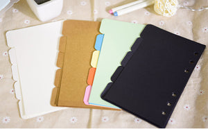 Keep it Simple Dividers - Small and Large - Black, White, Kraft Inserts