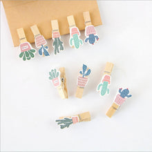 Mini Cacti Clothespin Set