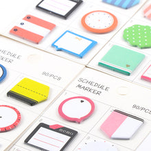 Schedule Markers - Mini Sticky Note Planner Stickers