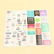 Choose Joy - Planner Stickers - Six Sheets
