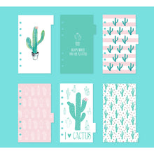 Cactus Series Planner Page Dividers - Size Small/Personal