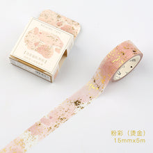 Speckled Pinky Gold Gilded Washi