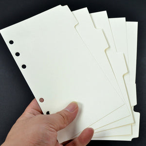 Standard White Planner Ring Dividers - Sizes Large and Small / Personal