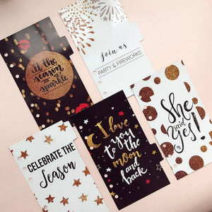 Wedding Planning Themed Dividers - Size Small