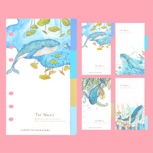 """Whale Friends"" Themed Planner Dividers - Size Large + Small"