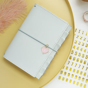 Ruffled Traveler's Notebook  - Pastel Blue Gray