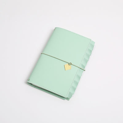 Ruffled Traveler's Notebook - Pastel Green