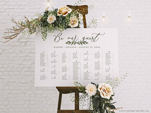 Be Our Guest Wedding Seating Chart (GP2040-A)