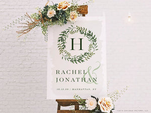 Welcome Wedding Sign Garden Wedding (GP2033-A)