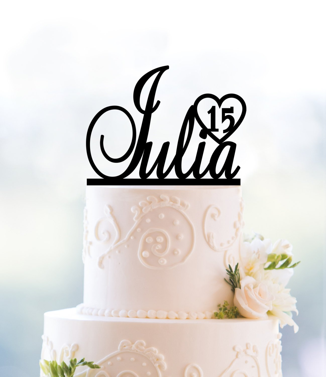Personalized Birthday Cake Topper First Name Number Party Decor Sweet 16 T091